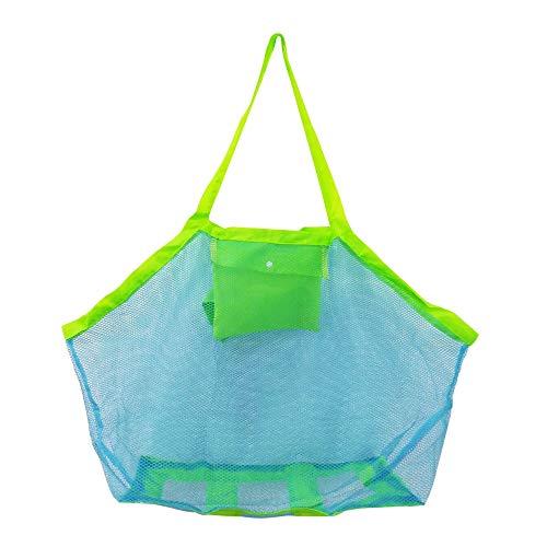 Sandspielzeug Netztasche Große Strandtasche Grün Aufbewahrungstasche für Strandspielzeug...