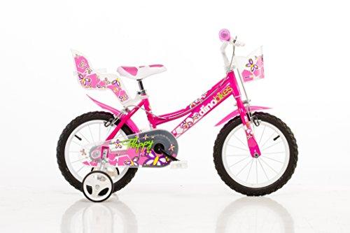Mädchen Kinderfahrrad pink Mädchenfahrrad – 16 Zoll | Original | Kinderrad mit Stützrädern - Das...