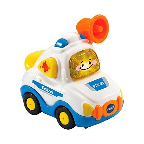 VTech Tut Tut Baby Flitzer - Polizei – Spielzeugauto mit Musik, aufleuchtender Taste, spannenden...