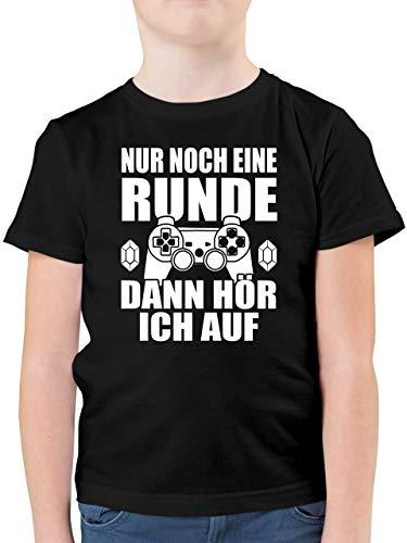 Statement Sprüche Kinder - Nur noch eine Runde - 152 (12/13 Jahre) - Schwarz - nur noch eine runde Kind...