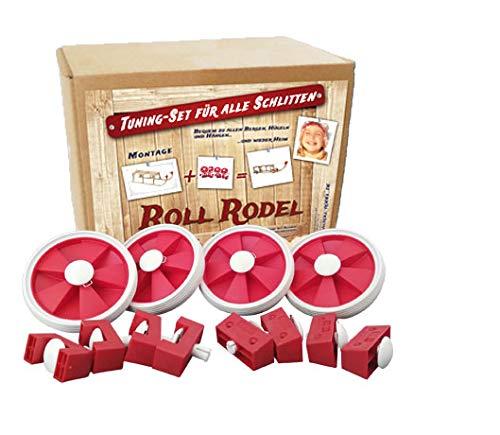 Roll Rodel Bausatz (ohne Schlitten) - Tuning Set für alle Holzschlitten / Rollen für Kinderschlitten /...
