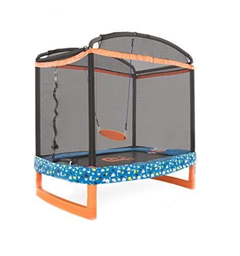 Outdoor Gartentrampolin Jumper Trampolin Komplettset inklusive Sprungmatte Sicherheitsnetz Mit Schaukel...