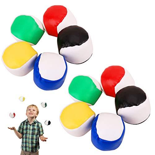 Joyibay Jonglierbälle für Anfänger, 10 STÜCKE Jonglierball Set für Kinder Lustige Interaktives...