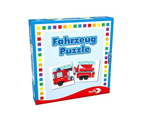 Noris 608985663 Fahrzeug Puzzle, das Memo Spiel mit bekannten Fahrzeugen aller Art, Reise und...
