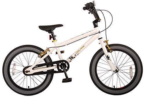 Kinderfahrrad Jungen Cool Rider 18 Zoll Vorradbremse und Rücktrittbremse am Lenker Weiß 95% montiert