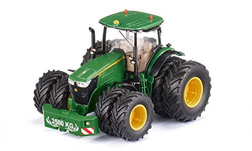 siku 6735, John Deere 7290R Traktor, Grün, Metall/Kunststoff, 1:32, Ferngesteuert, Steuerung mit App via...
