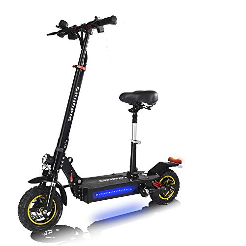 GRUNDIG Klappbares Elektro Scooter mit Sitz, E-Scooter mit 500W Motor, 45 Km Reichweite,10' Vollreifen,...