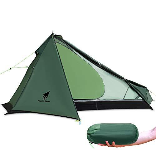 GEERTOP Upgrade Ultralight 3 Season 1 Personenzelt für Camping Backpacking Wandern Reisen - Zelte mit...
