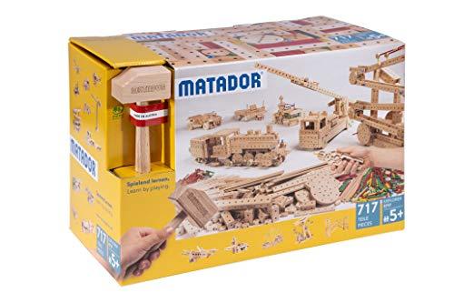 Matador E717 Baukasten, holzfarben, bunt