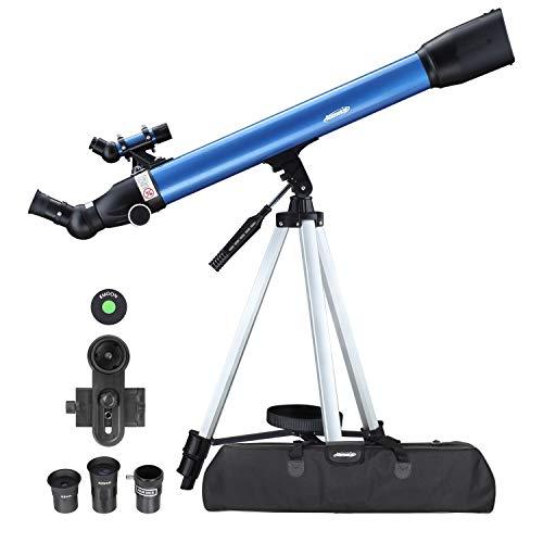 Aomekie Teleskop Astronomie, 234X Refraktor Teleskop für Kinder Einsteiger mit 10X Smartphone Adapter...