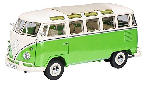 Schuco 450028600' VW T1b Samba 1:18' Fahrzeug, grün/beige