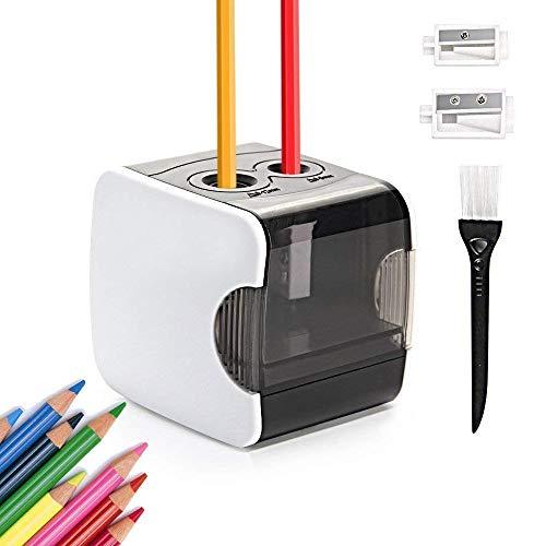 Elektrischer Anspitzer, Hommini Automatischer Anspitzer arbeitet mit USB oder Batterie, 2 verschieden...