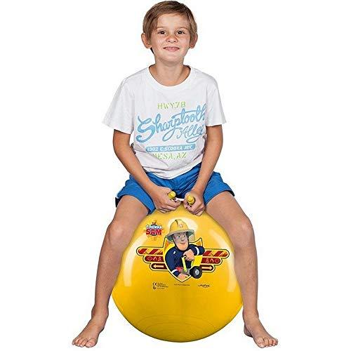 DICKIE Sprungball | 45 - 50 cm | Outdoor Aktivitäten | Feuerwehrmann Sam | Hüpfball