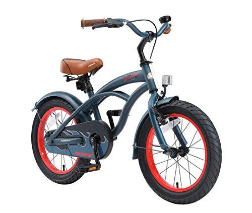 BIKESTAR Kinderfahrrad für Jungen ab 4-5 Jahre | 16 Zoll Kinderrad Cruiser | Fahrrad für Kinder Blau |...