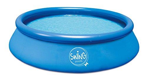 Ambientehome Quick Up Easy Aufstellpool, blau, 366 x 366 x 91 cm, 6756 L, 26018