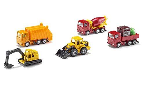 Siku MN016-197 6283, Geschenkset 4 - Baustellenfahrzeuge, 5-Teilig, Metall/Kunststoff, Multicolor,...