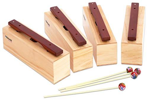 Betzold Musik 9955 - Satz mit 4 Bass-Klangbausteinen - Xylophon Musikinstrumente