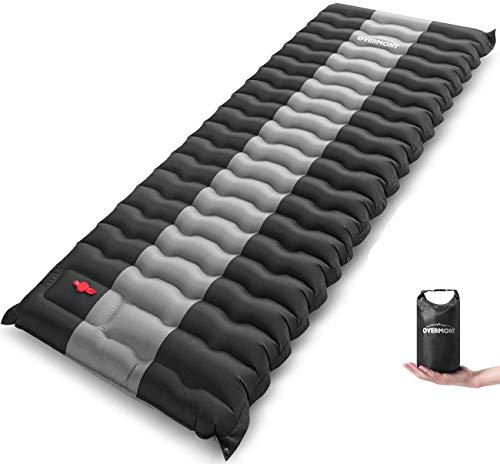 OVERMONT Camping Isomatte 12cm Dick für Camping Wanderungen Backpacking Reisen Zelte Strand Schwarz