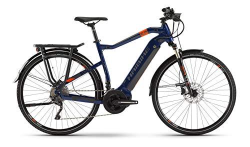 HAIBIKE SDURO Trekking 5.0 Yamaha Elektro Fahrrad 2020 (28' Herren Diamant XXL/64cm, Blau/Orange/Titan)