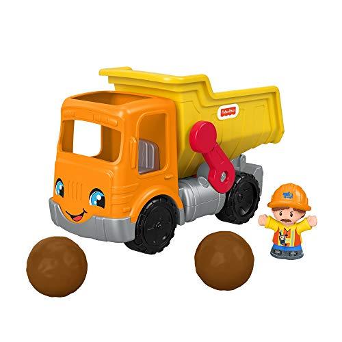 Fisher-Price GMX90 - Little People Kipplaster inkl. Geräuschen und Spielfigur für Kleinkinder ab 1 Jahr
