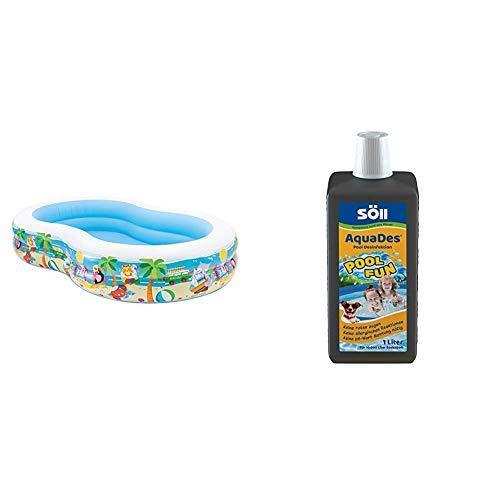 Intex Swim Center Seashore Pool - Kinder Aufstellpool - Planschbecken - 262 x 160 x 46 cm - Für 3+ Jahre...