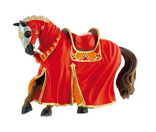 Bullyland 80768 - Spielfigur, Turnierpferd rot, Fantasy Sammelfigur, ca. 14 cm, ideal als Torten-Figur,...