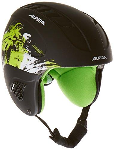 Alpina Kinder Skihelm Carat L.E., schwarz/grün, 48-52, 9042135