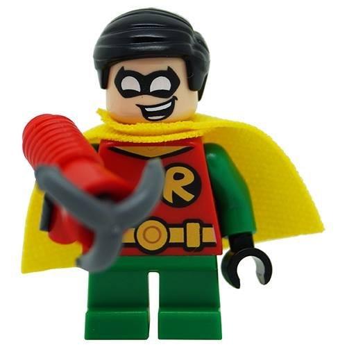 Echt Lego DC Klassisch Robin SHORT BEINE Minifigur TEILUNG von 76062 Mächtig Micros Set