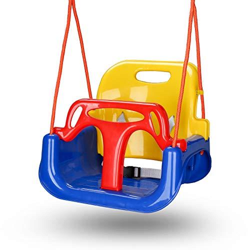 Hengda Babyschaukel, Kinderschaukel, Spielzeug Schaukel für Kinder 3 in 1, mit Rückenlehne und...