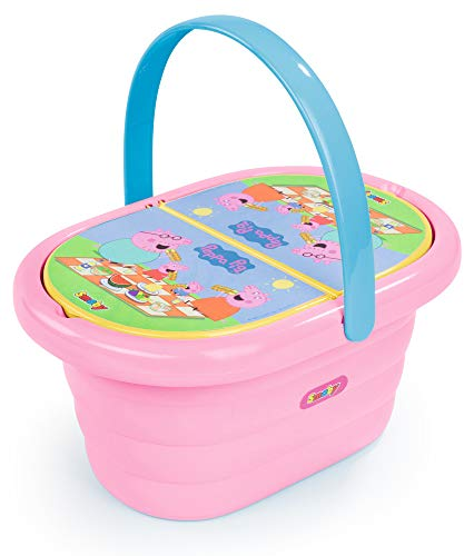 Smoby 310589 – Peppa Wutz Picknick-Korb – Spielset mit Spielzeug-Teeservice (20 Teile), inkl. Teller,...
