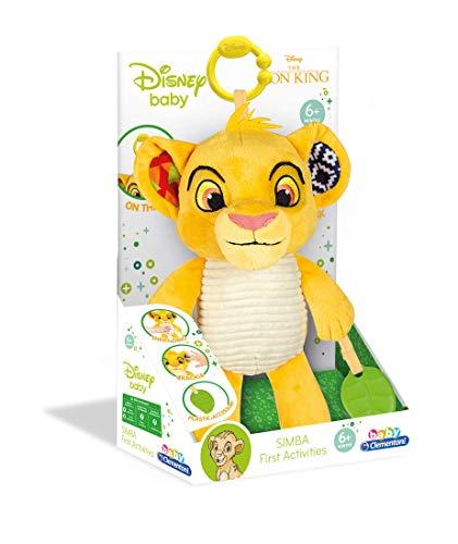 Clementoni 17296 Disney Baby – König der Löwen Aktivitäts-Plüsch, kuscheliges Lernspielzeug,...