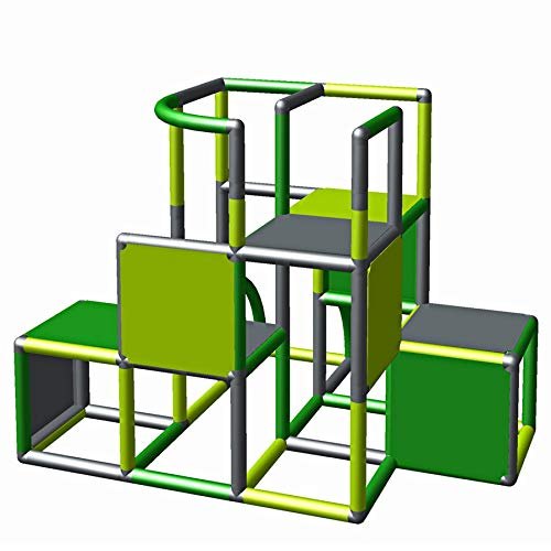 Moveandstic 875056 - Grundbaukasten Profi grün apfelgrün Titan grau rot (grün apfelgrün titangrau)