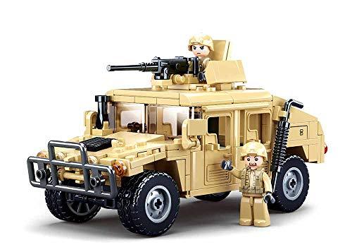 Sluban Klemmbausteine SL95707, Gepanzertes Fahrzeug (265 Teile) [M38-B0837], Spielset , Klemmbausteine,...