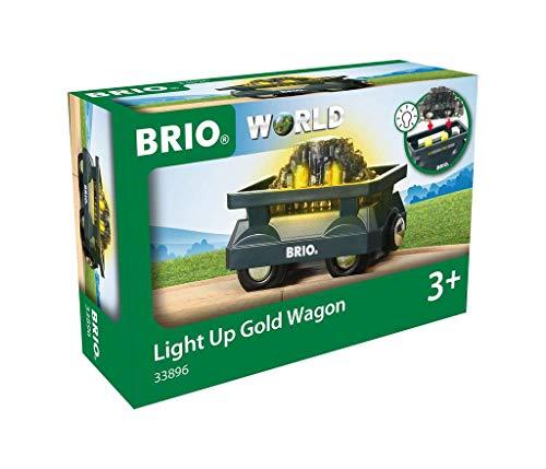 BRIO Bahn 33896 - Goldwaggon mit Licht
