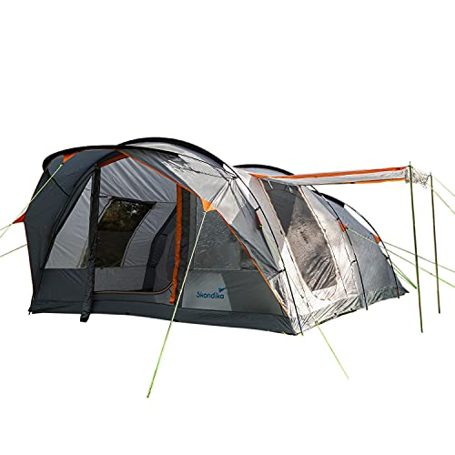 Skandika Egersund 7 Personen Tunnelzelt Camping Zelt mit 5000 mm Wassersäule, eingenähter Zeltboden,...