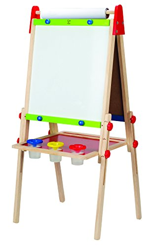 Hape Kinder Spiel-Tafel aus Holz  Preisgekrönte doppelseitige Kindertafel höhenverstellbar mit...
