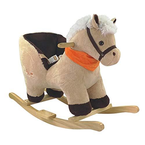 Bieco Plüsch Schaukeltier Pferd 73,5x33,5x53cm   Schaukelpferd Baby   Schaukeltier Baby   Kinderschaukel...