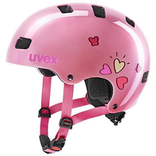 uvex Unisex Jugend Kid 3 Fahrradhelm, pink Heart, 55-58 cm