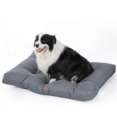 Bedsure Hundekissen für Mittlere und Mittelgroße Hunde Wasserdicht 90 x 68 cm - Gepolstert Hundematte...