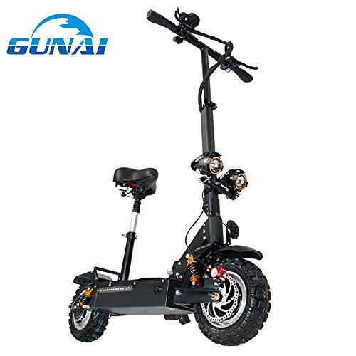 GUNAI Elektroroller mit Sitz 3200W Motor Höchstgeschwindigkeit 85 km/h Double Drive 11-Zoll...