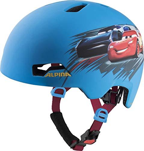 ALPINA Unisex - Kinder, HACKNEY DISNEY Fahrradhelm, Cars, 51-56 cm