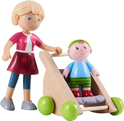 HABA 305594 - Little Friends – Mama Melanie und Baby Kilian, Spielfigur ab 3 Jahren