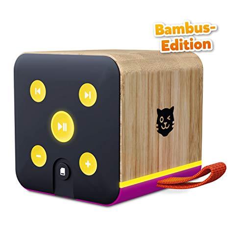 Lenco Tigerbox lila Bambus Edition, Bluetooth-Lautsprecher für Kinder, SD-Karten-Slot, Bambus-Gehäuse,...