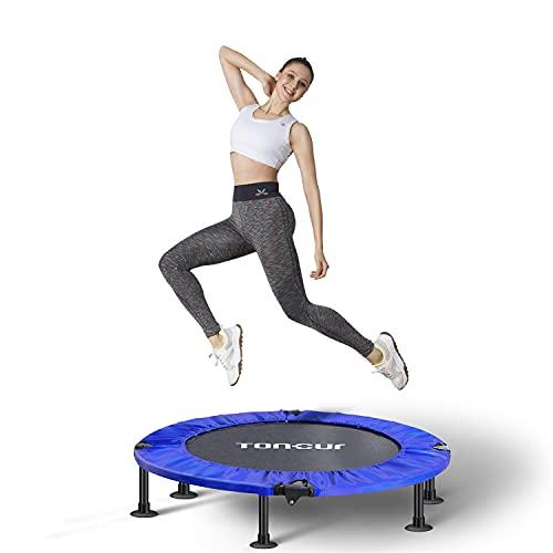 Toncur faltbares Fitness-Trampolin Ø 102 cm, Outdoor- / Indoor-Übungs-Trampolin für Erwachsene und...