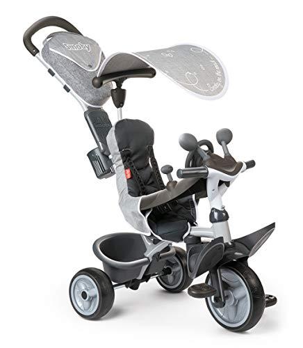 Smoby - Baby Driver Komfort Titan - 3-in-1 Kinder Dreirad, mitwachsendes Multifunktionsfahrzeug, für...