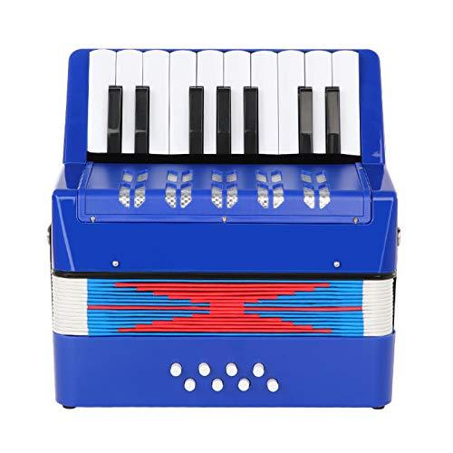 Topnaca Kinder Akkordeon, Spielzeug Akkordeon, Mini Akkordeon,17 Tasten 8 Bass, Solo und Ensemble,...