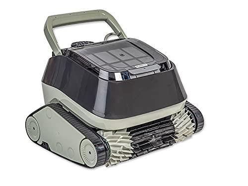 Meranus Poolroboter Power 4.0 vollautomatisch, Boden und Wandsauger, grau