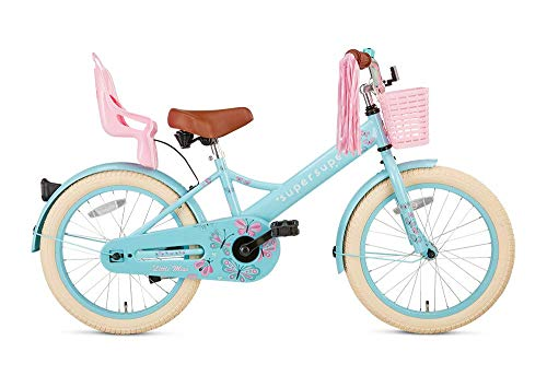 POPAL SuperSuper Little Miss Kinder Fahrrad für Kinder | Fahrrad Mädchen 18 Zoll ab 5-7 Jahre|...