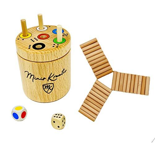 Ab in die Walzen- Box Spiel rund von Minis Kreativ | Massivholz Buche|Spaß für die ganze Familie und...