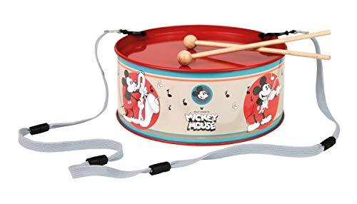 Lena 52635 Maus Blechtrommel Disney's Mickey Mouse Ø 20 cm, Kindertrommel aus Blech mit 2 Schlägel,...